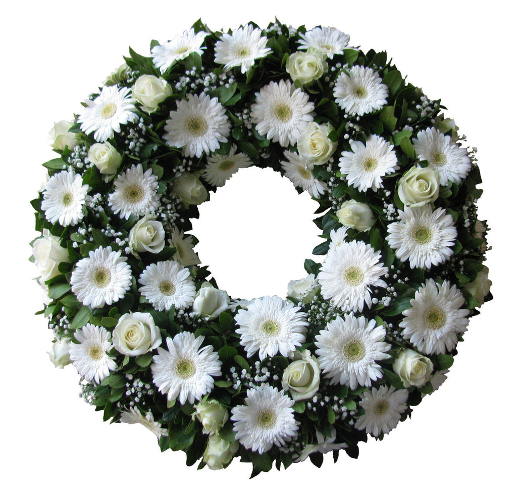 Standing Wreath- White