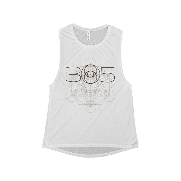 305 Lens Metatron Sacred Geometry Muscle Tee (Women's)