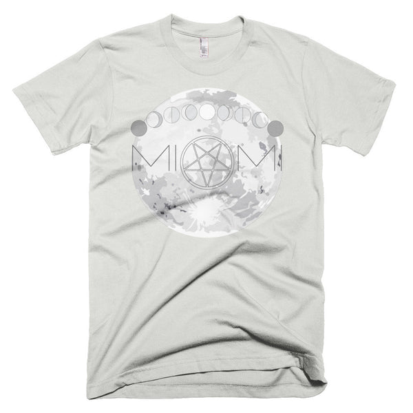 Silver Gray T-shirt for Men Moons Over Miami