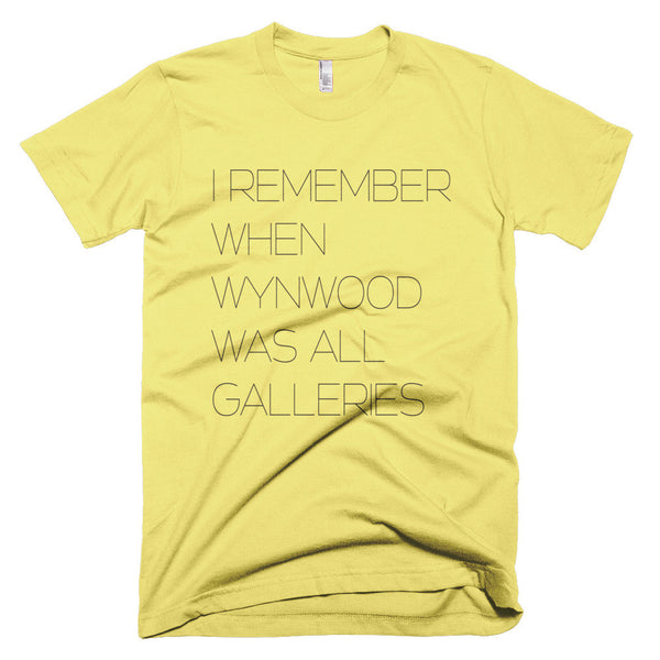 Lemon Yellow T-shirt for Men I Remember Wynwood