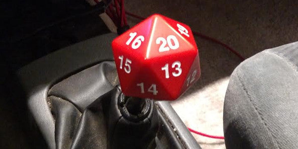Custom D20 Shift Knob