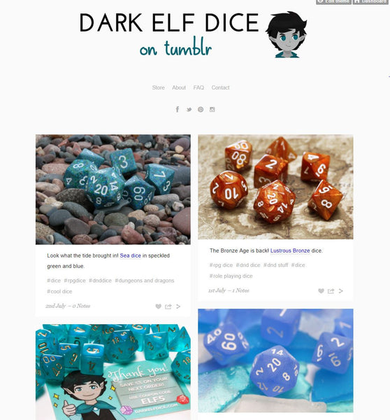 Dark Elf Dice Tumblr