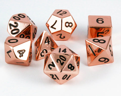 copper metal d&d dice