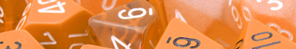 Orange RPG Dice