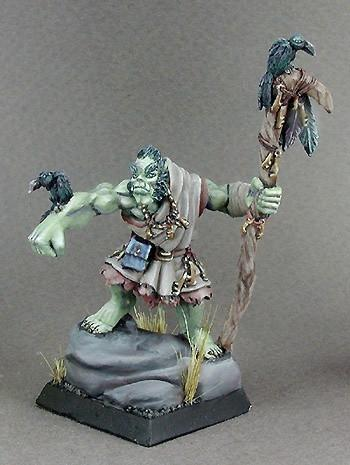 RPG Miniatures Half-Orc Druid