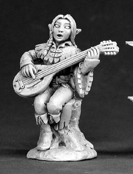 Elf Bard Miniature