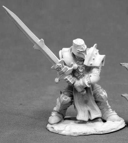 D&D Miniature Paladin Two Handed Sword