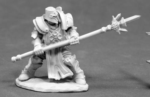 D&D Miniature Knight with Polearm