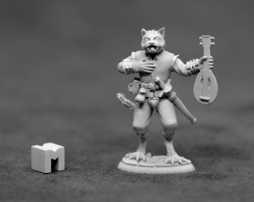 D&D Catfolk Bard Miniature