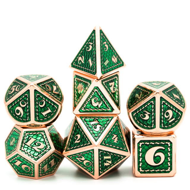 Green and Copper Mermaid Dice