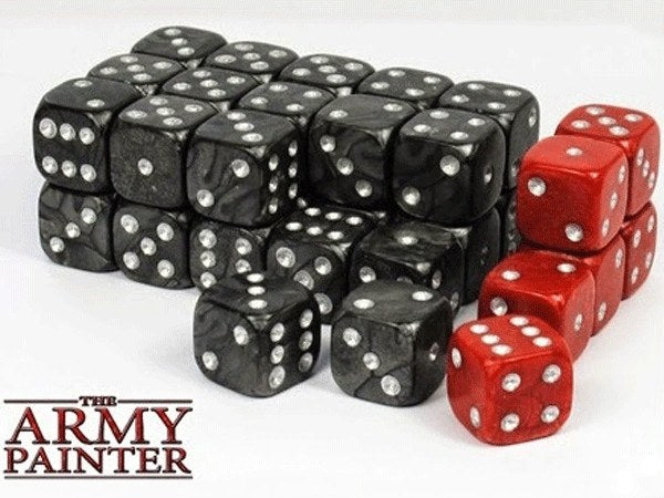 Wargaming Dice Black and Red