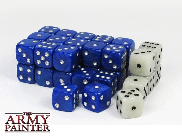 Wargaming Dice Blue and White