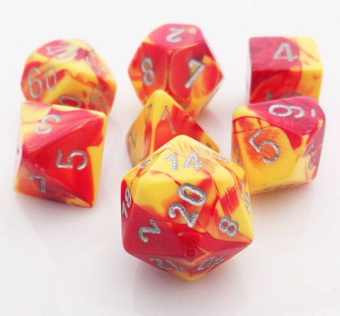 Gemini Dice Red Yellow