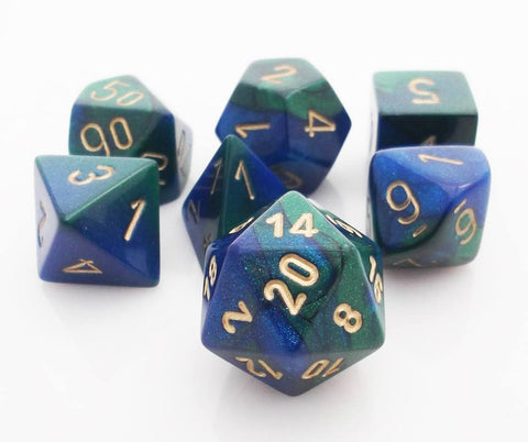 Gemini Dice Blue Green