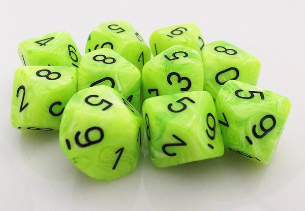 Vortex Dice d10 Bright Green