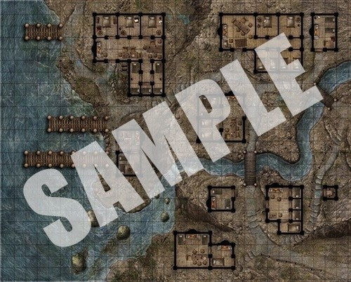 Pathfinder Flip Mat Red Light District Rpg Miniatures