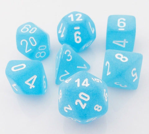 Frosted Dice Caribbean Blue
