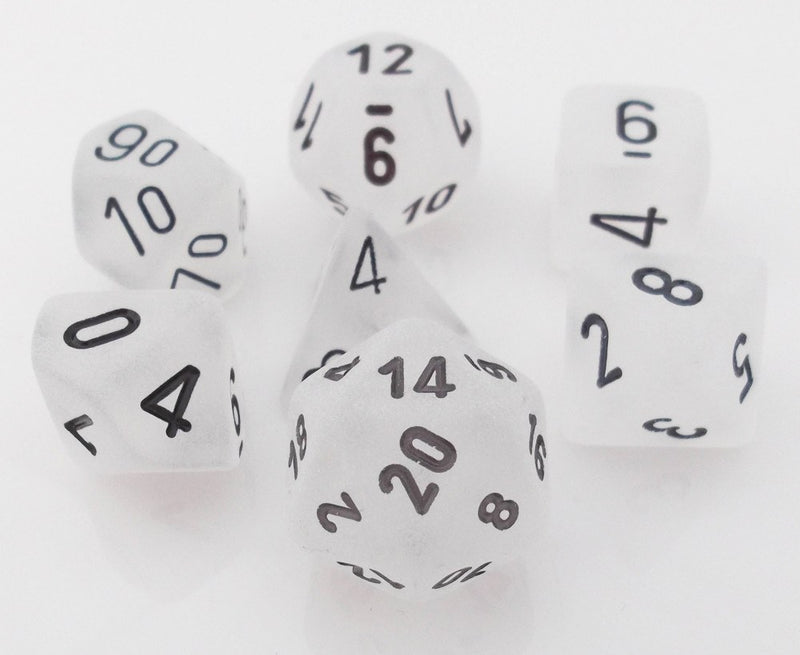 Frosted Dice White
