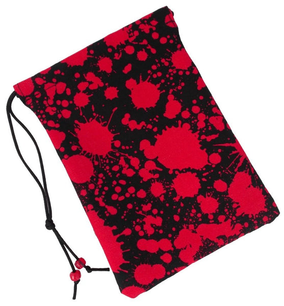 Blood Splatter Dice Bag