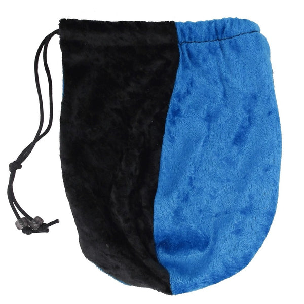 dice bag black blue