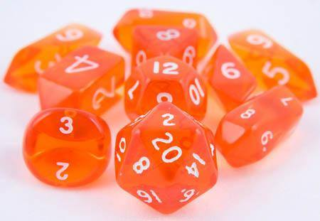 Translucent Hybrid Dice Orange