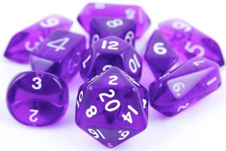 Translucent Hybrid Dice Purple