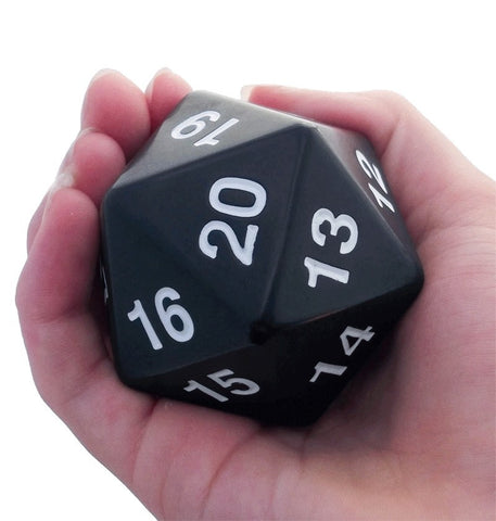 Giant D20 Black Dice