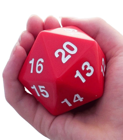 Giant D20 Red Dice