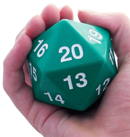 Giant D20 Green Dice