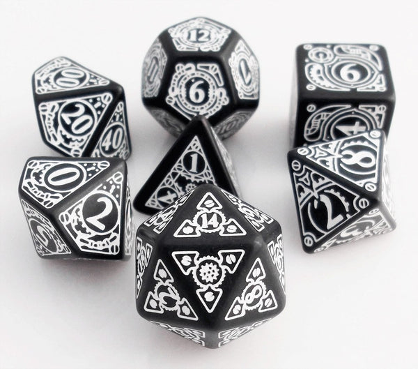 Steampunk Dice Black