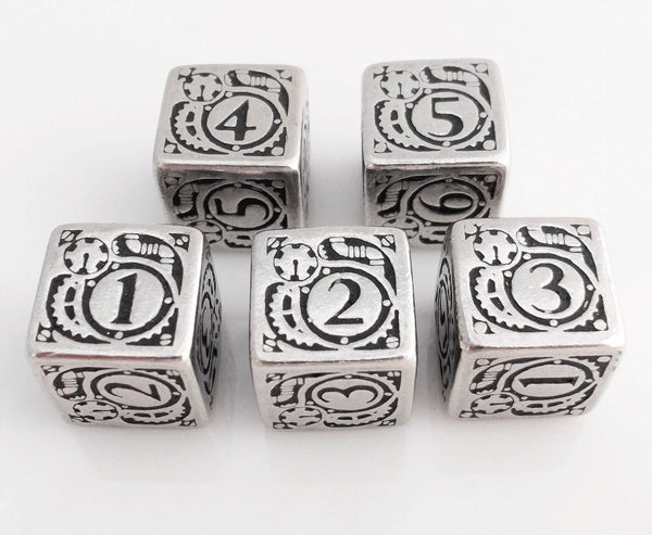 Steampunk Dice Metal D6