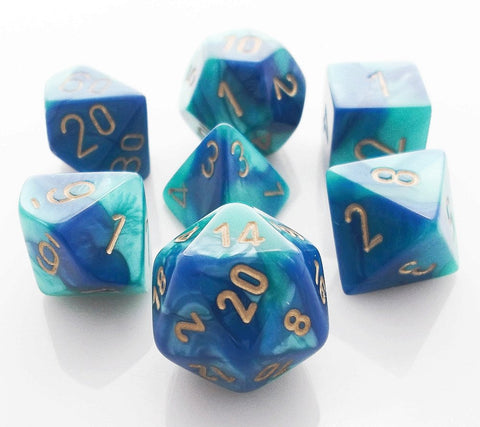 Gemini Dice Blue Teal