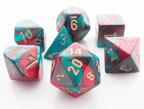 Gemini Dice Red Teal