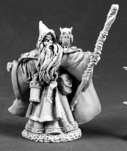 Reaper Miniatures Wizard With Owl 3693