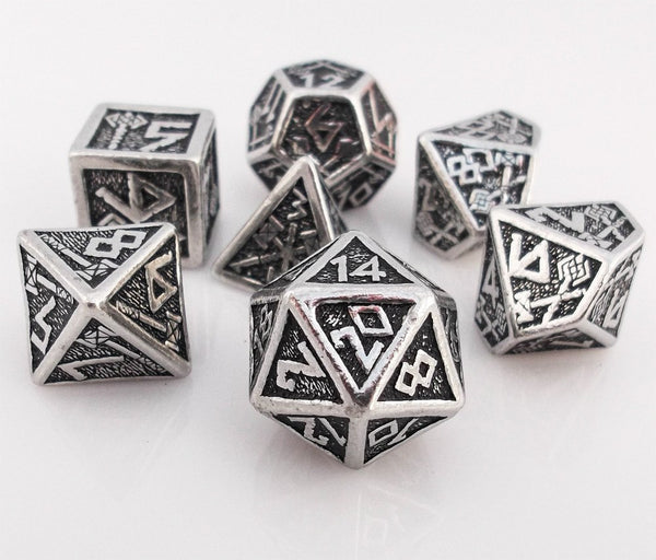 Dwarven Dice Metal Rpg Role Playing Game Dice Set