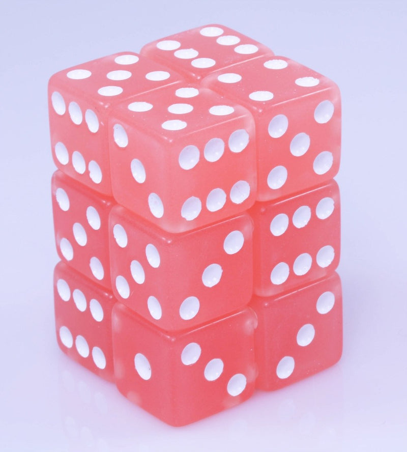 Glow In The Dark Pink Dice