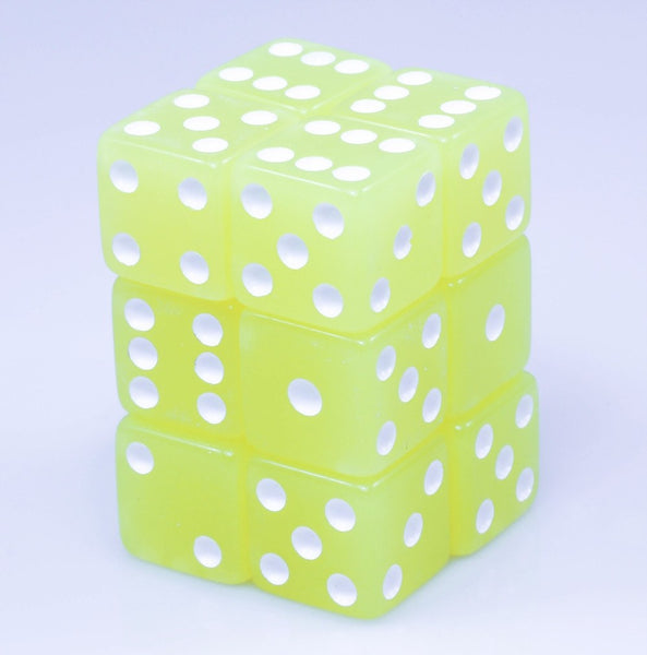 Glow In The Dark Yellow Dice