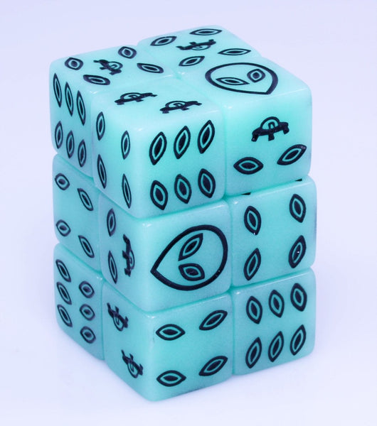 Glow In The Dark Alien Dice
