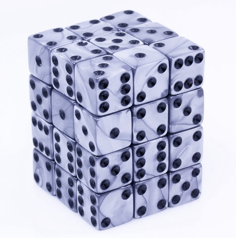 Olympic Silver D6 Dice Mini