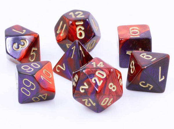 Gemini Dice Red Purple