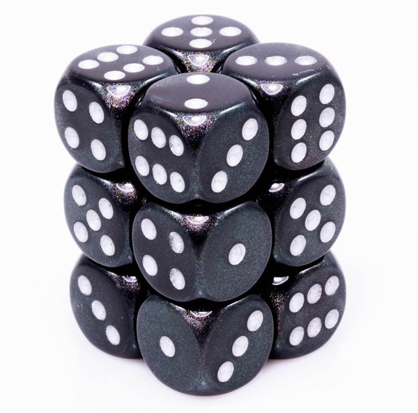 Borealis Dice Smoke Black D6