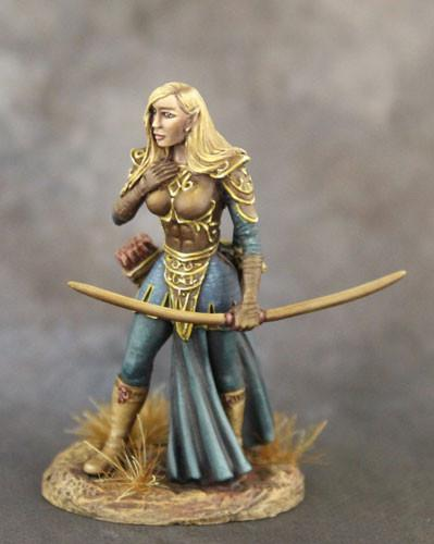 Dark Sword Miniatures Dsm1196 Female Elf Archer 28mm