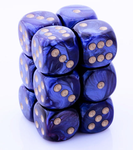 Scarab Dice d6 Royal Blue