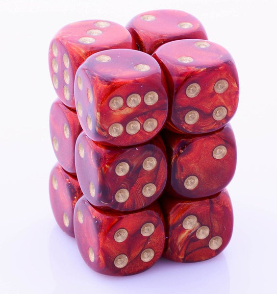 Scarab Dice d6 Scarlet Red