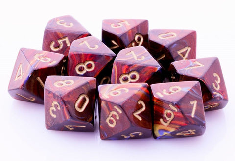 Scarab Dice d10 Blue Blood