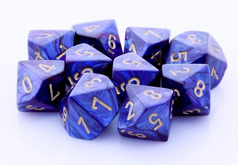 Scarab Dice d10 Royal Blue