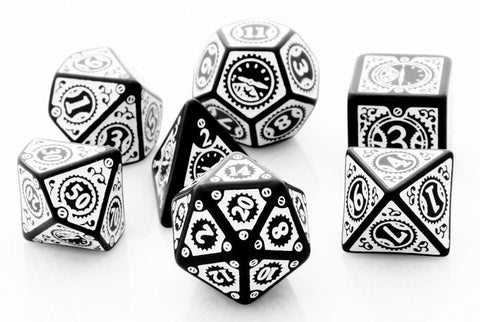 Steampunk Dice Clockwork Black