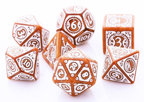 Steampunk Dice Clockwork Caramel