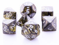 Lustrous Dice Black Gold Leaf