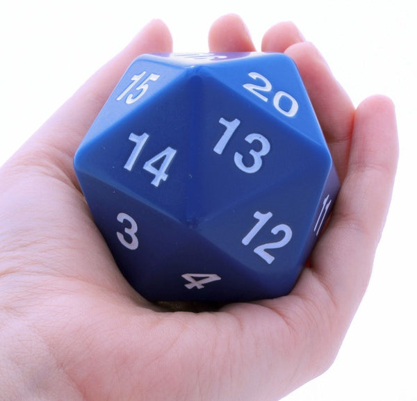 Giant D20 Blue 55mm Rpg Role Playing Game Die Dark